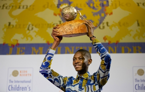 Abraham M Keita from Liberia won the 2015 International Children's Peace Prize